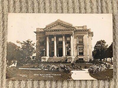 RPPC 1910 Port Huron Michigan Maccabee Temple Antique Real Photo Postcard Pesha
