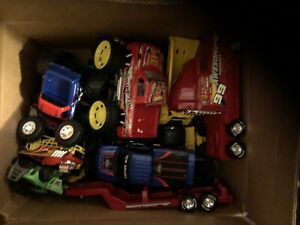 Trucks, cars and toy trailers