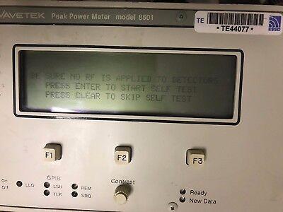 Wavetek 8501 Peak Power Meter 120v Overnight Shipping