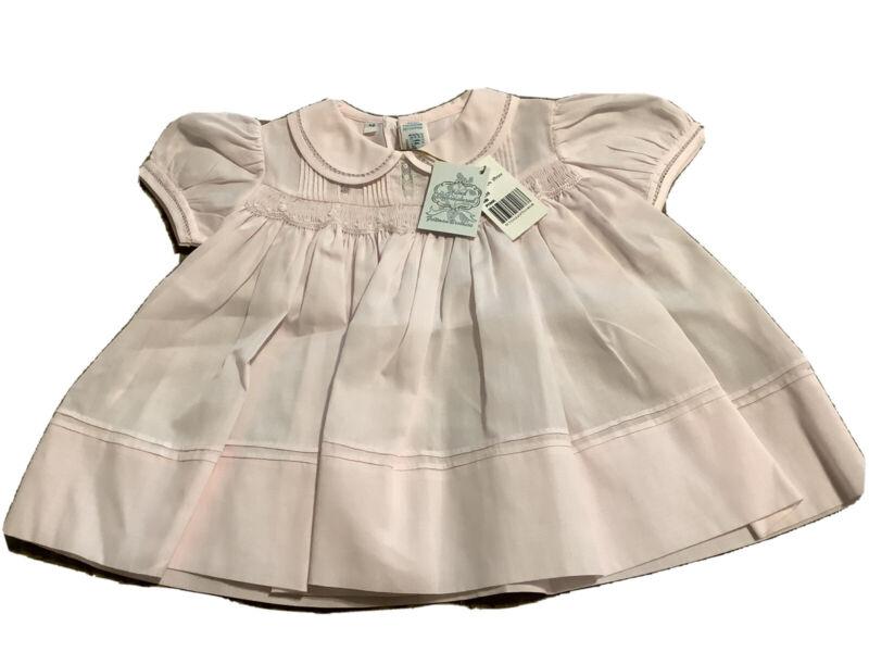 NWT Pink Smocked Feltman Brothers Infant NB Dress 83235 MSRP 45.50