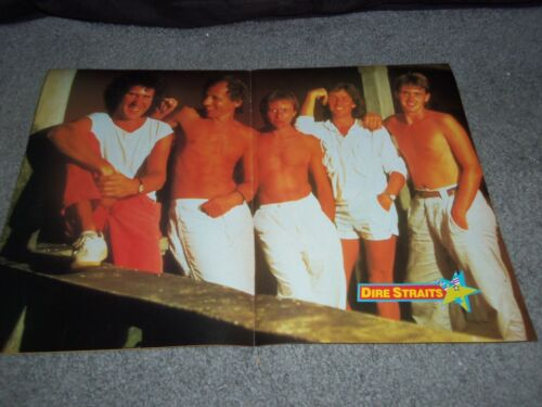DIRE STRAITS...RARE....1985...magazine POSTER...shirtless...MARK KNOPLER