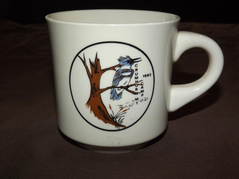 VINTAGE BSA BOY SCOUTS  COFFEE MUG 1983 CRUMHORN MT CAMP