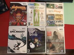 Lot de jeux Wii