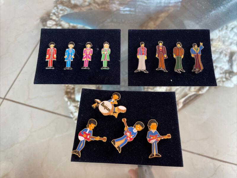Set Of 12 Collectible Beatles Pins