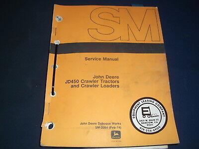 John Deere Jd450 Crawler Tractor Loader Technical Service Repair Manual Sm2064
