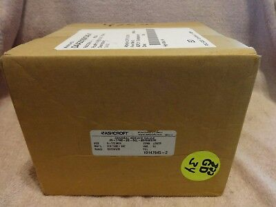 Ashcroft Low Pressure Bellows Gauge 45-1188-ss-04l 600iwvm 4-12 New In Box