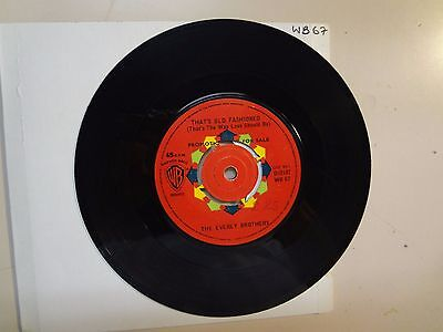 """EVERLY BROTHERS: That's Old Fashioned-How Can I Meet Her?-U.K. 7"""" 1962 WB 67 DJ"""
