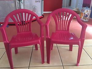 Pink plastic toddler chairs Fletcher Newcastle Area Preview