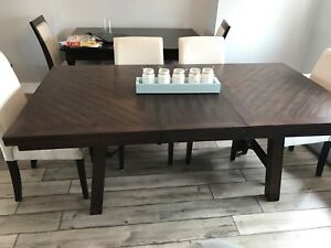 New rustic farmhouse Jax dining table with leaf