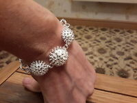 Brand Silver Plated Chunky Bracelet With Gift Box -  - ebay.co.uk