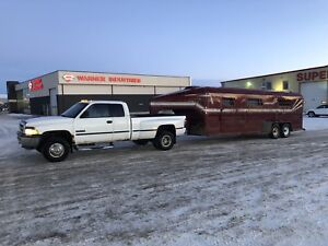 1998 Dodge Cummins Dually and 24ft Stock Trailer