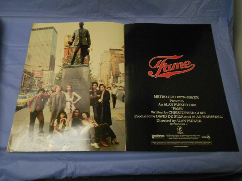 Fame (1980) Eddie Barth, Irene Cara Promo PRESSBOOK