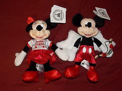 Disney Parks Mickey and Minnie Valentine's Day Cupid Plush Doll Toy Set 9