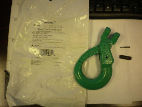 Campbell 5748495 Self-Locking Hook, 9/32 in Trade, 4300 lb Load, 100 Grade,