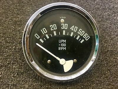 Original Accessory VDO Electric Tachometer Gauge Early Volkswagen or Porsche 356