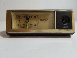 Vintage Bulova Clock Mantle Desk Retro Desk Office - as is RARE