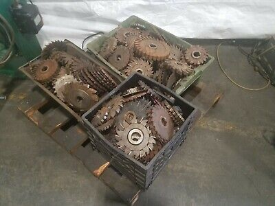 Assorted Cutters For Horizontal Milling Machine Full Lot One Price