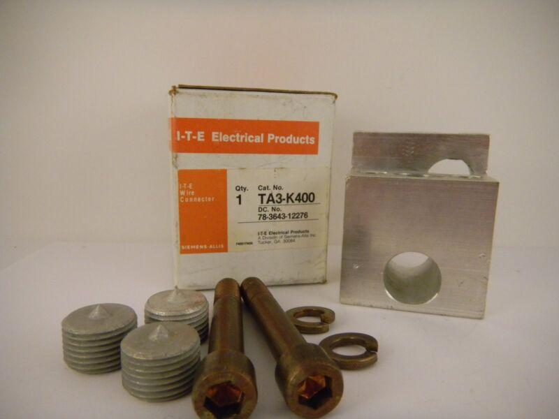 SIEMENS CIRCUIT BREAKER CABLE CONNECTOR TA3-K400 *NEW SURPLUS IN BOX*