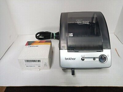 Used Brother Ql-500 Label Thermal Printer With 1 New Roll Of Labels