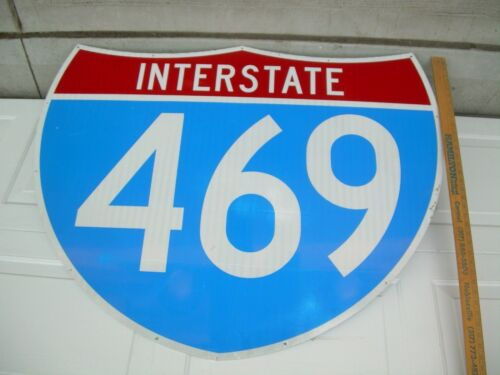 "Retired Interstate 469 Sign, Reflective  45"" x 36"""