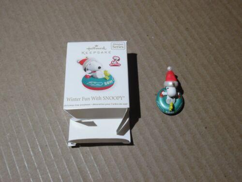 Hallmark Keepsake Miniature Ornament Winter Fun With Snoopy 2011 #14