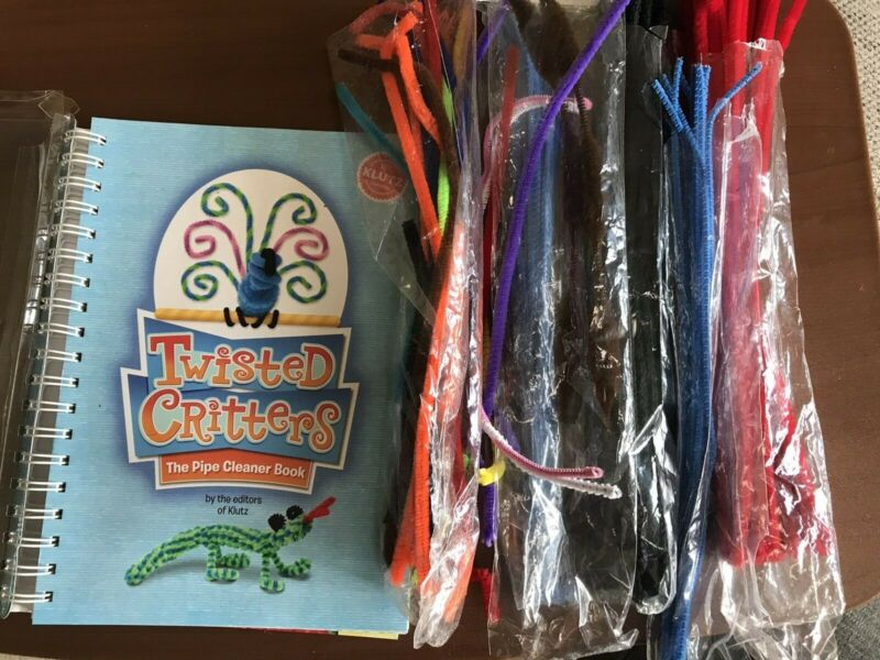 Klutz Twisted Crittters The Pipe Cleaner Book plus lot of pipe cleaners