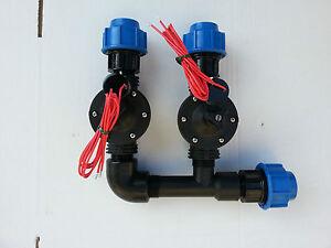 Collettore irrigazione 2 elettrovalvola 1 per impianto for Elettrovalvola giardino