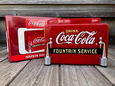 Coke ☆ COCA-COLA BRAND ☆ FOUNTAIN SERVICE NAPKIN HOLDER ☆ Red Plastic ☆ NIB