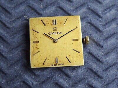 OMEGA Cal 620 Wrist Watch Movement & Dial Complete. Spares/Repair Antique