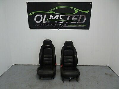 05 13 Corvette C6 Z06 Corvette Front Seats Black Leather Driver Passenger GM 23K