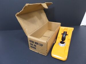VINTAGE 1970's CITGO MINI SSP ORANGE CAN-AM RACER  W/ BOX