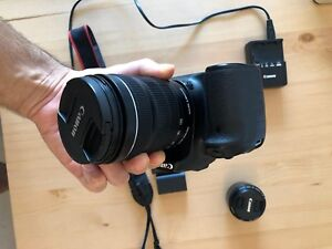 Canon 70D with canon 18-35mm and 50mm lens
