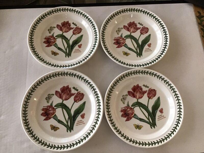 """Portmeirion Botanic Garden Dinner Plate 10 5/8"""" Pink Parrot Tulip"""
