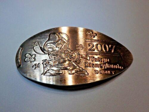 2007 DISNEYLAND STITCH TOKYO JAPAN RETIRED-Elongated / Pressed Nickel T-872