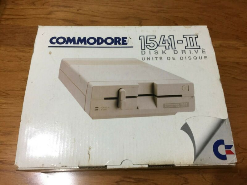 Commodore 1541-II Disk Drive with Power Supply, NEW In Box ..