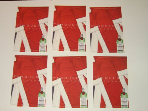 Lot 6 Tanqueray London Dry Gin British Flag Advertisement Postcard New Unused