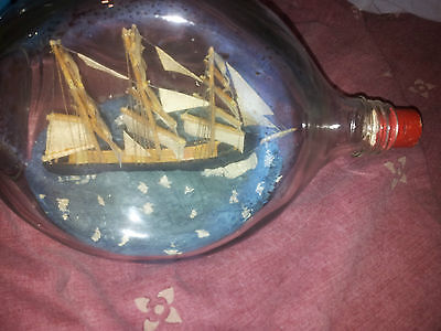 VERY NICE SHIP IN JOHN HAIG AND CO  BOTTLE VINTAGE RETRO