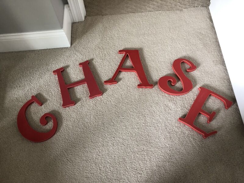 """Wooden Letters """"CHASE"""""""