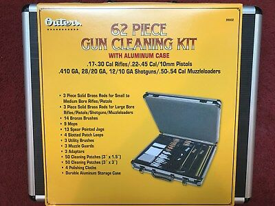 Outers 99902 Universal 62 Piece Cleaning Kit W Aluminum Case New