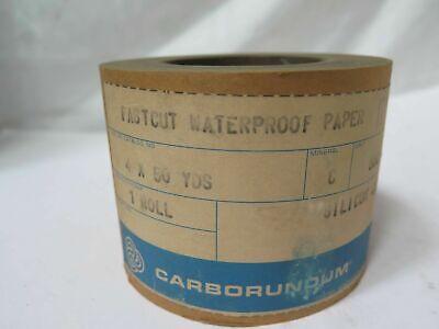 Carborundum Fastcut Waterproof Paper Sc Roll 4 X 50yds Grit 600 Brand New