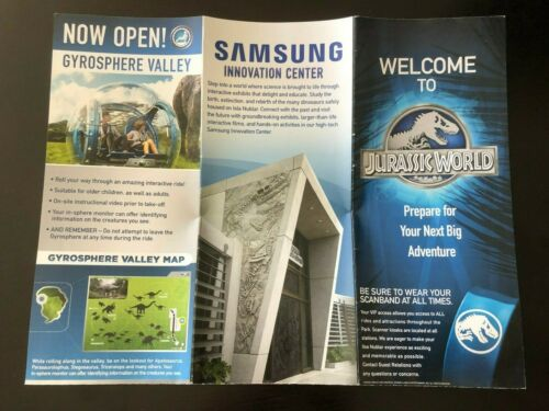 Welcome to Jurassic World Promotional Brochure