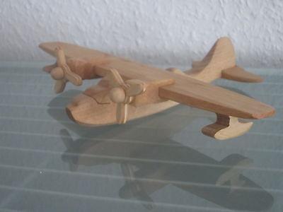 Flugzeug Flieger Catalina Wasserflugzeug HANDARBEIT NEU Holz