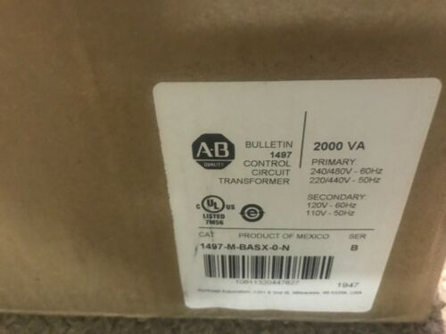 NEW AB ALLEN BRADLEY 1497-M-BASX-0-N / 1497MBASX0N  TRANSFORMER