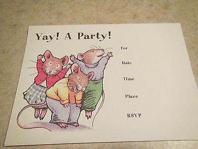YAY!1997 DAVID SIEKS 9 CARDS/INVITATION A PARTY TOWN MOUSE,WARD 1 STUDIOS - Party Town Usa