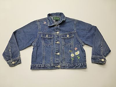 The Childrens Place Girls Size 6X/7 Embroidered Jean Jacked Great Condition