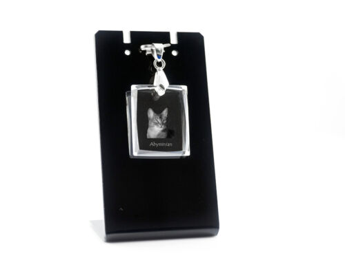 Abyssinian, Cat Crystal Necklace, Pendant, High Quality, Crystal Animals USA