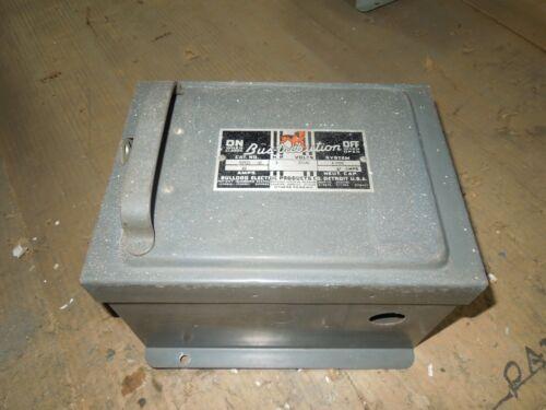 Bulldog Bp421 30a 3ph 4w 240v Fusible Cover Operated Bus Plug Used E-ok