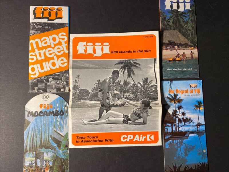 FIJI Vintage Travel Souvenir Brochures and Maps -Late 1970s International Travel