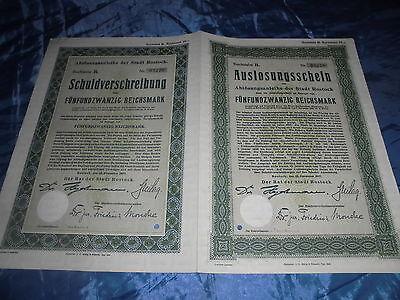 462 : Wertpapier / historisch , ROSTOCK , 12. November 1927 , 25 Reichsmark / 76