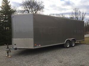 Galvanized like new 22 wedge-nose trailer